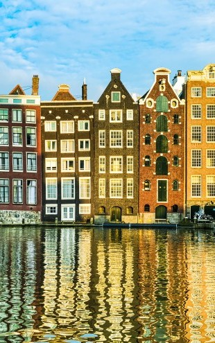 PHOTOWALL / Traditional Houses of Amsterdam, Netherlands (e22818)