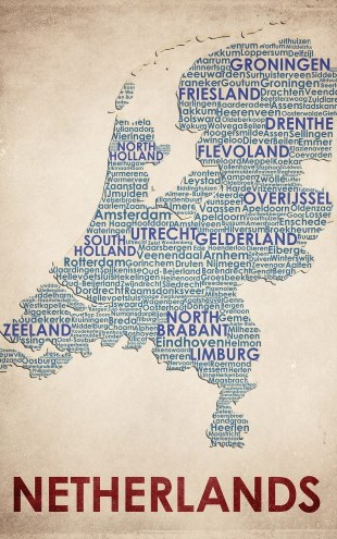PHOTOWALL / The Netherlands Map (e22960)