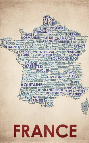 PHOTOWALL / France Map (e22963)