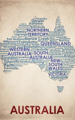 PHOTOWALL / Australia Map (e22964)