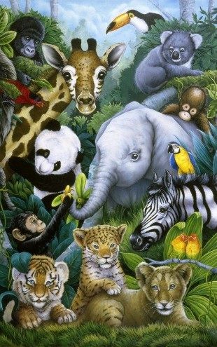 PHOTOWALL / Jungle Animals (e23003)