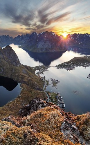 PHOTOWALL / Mountain Landscape at Sunset in Norway (e23179)