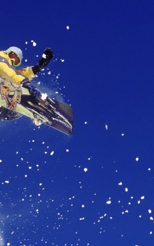 PHOTOWALL / Airborne Snowboarder (e23245)
