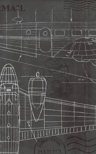 PHOTOWALL / Plane Blueprint (e23331)