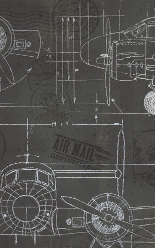 PHOTOWALL / Plane Blueprint 3 (e23412)