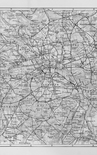 PHOTOWALL / London Map with Bus - Colorsplash (e23599)