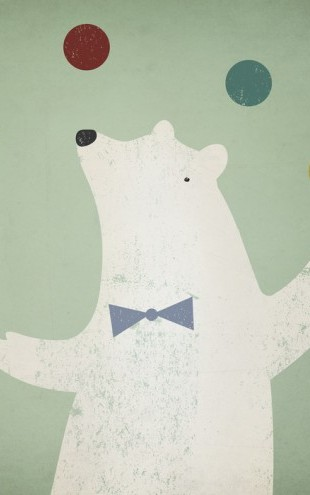PHOTOWALL / Circus Polar Bear (e23850)