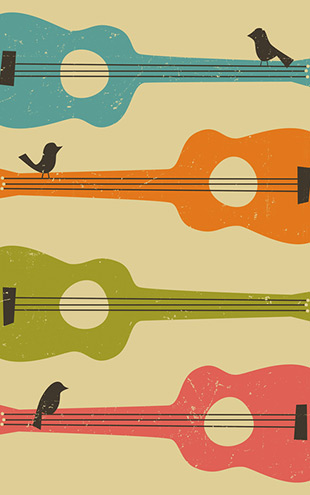 PHOTOWALL / Birds on a Guitar (e23903)