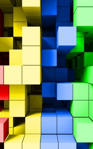 PHOTOWALL / Deep Tetris Color (e22658)