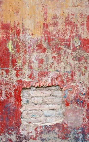 PHOTOWALL / Reddish Old Cement Wall (e23947)
