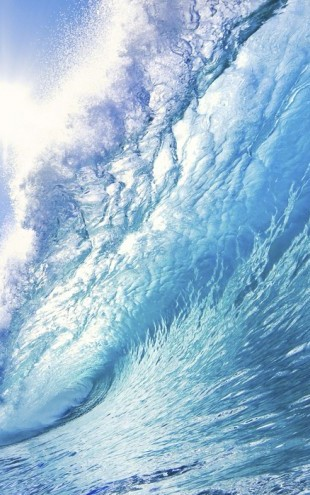 PHOTOWALL / Big Blue Surfing Wave (e19109)