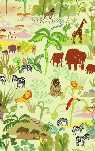 PHOTOWALL / Serengeti pattern (e23881)