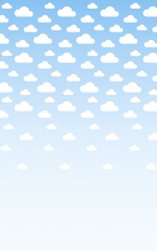 PHOTOWALL / Cumulus - Blue (e24381)