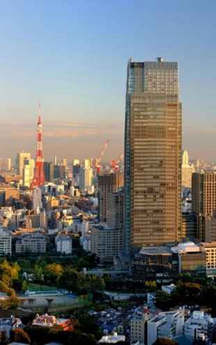PHOTOWALL / Midtown, Roppongi Hills and Tokyo Tower at Sunset (e24531)
