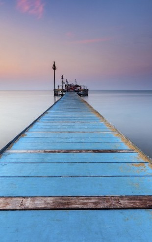 PHOTOWALL / Blue Wooden Pier (e29417)
