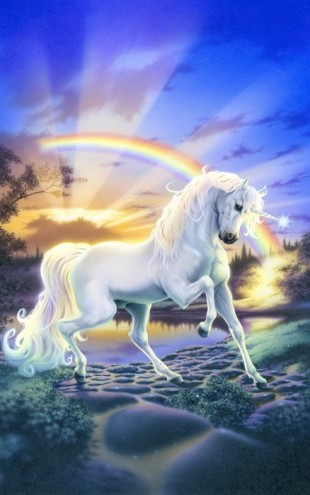 PHOTOWALL / Rainbow Unicorn (e23152)