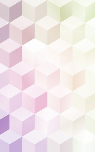 PHOTOWALL / Cubes in Frosty Pastel (e25012)