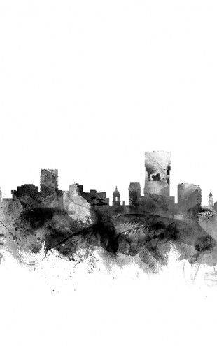 PHOTOWALL / Pretoria South Africa Skyline Black (e25418)