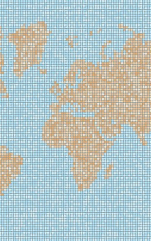 PHOTOWALL / World Map Dot Texture (e25468)