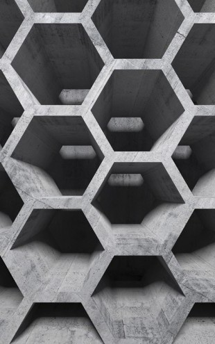 PHOTOWALL / 3D Honeycomb Structure (e25469)