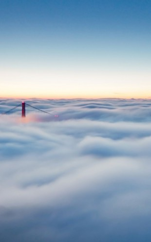 PHOTOWALL / Fog over San Francisco (e29511)