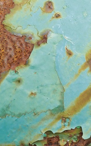PHOTOWALL / Turquoise and Rust (e23750)