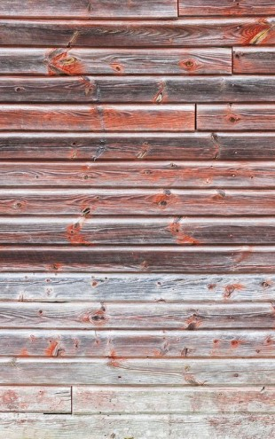 PHOTOWALL / Old Red Wooden Wall (e23784)