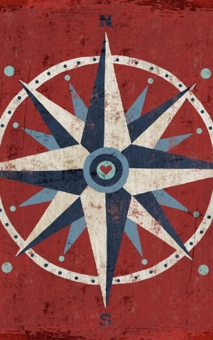 PHOTOWALL / Nautical Love Compass (e24846)