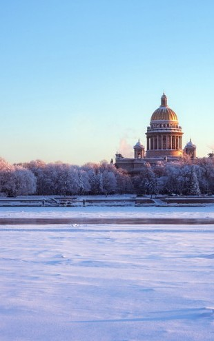 PHOTOWALL / Frozen River Neva (e40342)