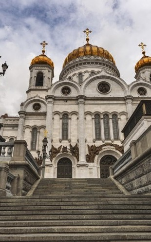 PHOTOWALL / In front of the Cathedral of Christ the Saviour (e40345)