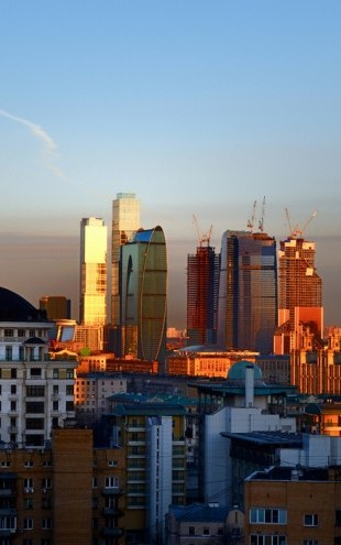 PHOTOWALL / Moscow Skyline at Sunrise (e40349)