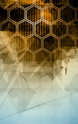 PHOTOWALL / Abstract Hexagons (e24992)