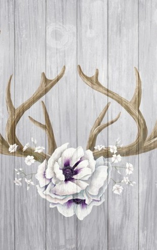 PHOTOWALL / Antlers and Poppies II (e25634)