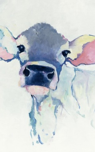 PHOTOWALL / Watercolor Cow (e25653)