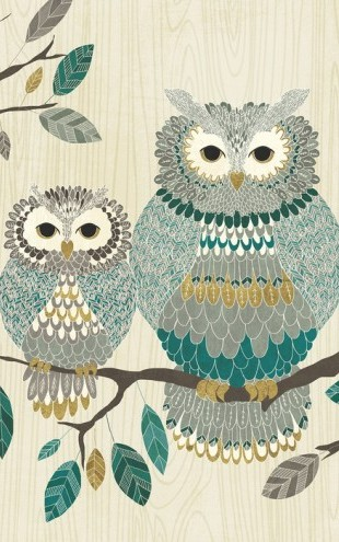 PHOTOWALL / Owl Couple (e25769)