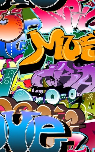 PHOTOWALL / Music Love Graffiti (e25820)