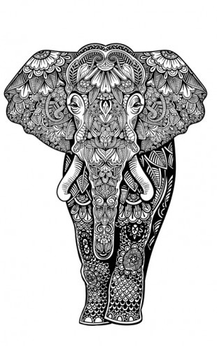 PHOTOWALL / Henna Elephant (e25830)