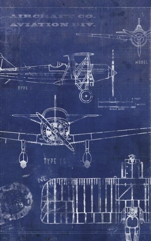 PHOTOWALL / Airplane Blueprint (e30077)