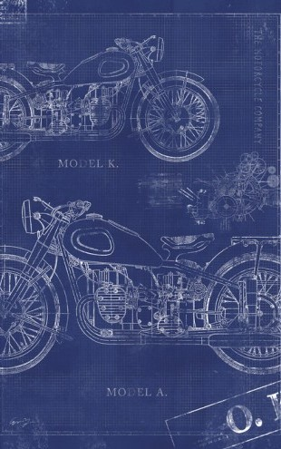 PHOTOWALL / Motorcycle Blueprint (e30080)