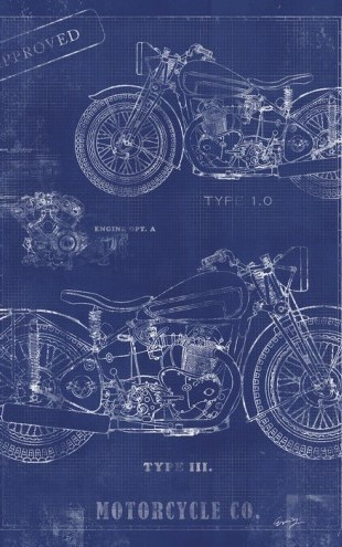 PHOTOWALL / Motorcycle Blueprint 2 (e30081)