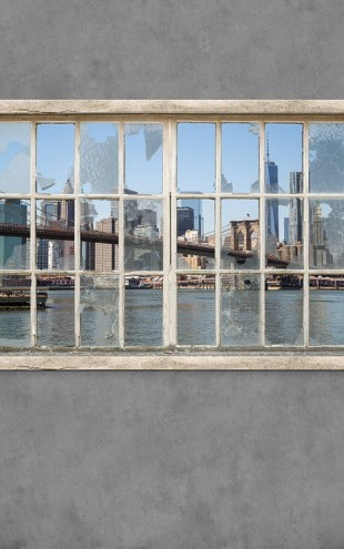 PHOTOWALL / View from Basement Windows - Brooklyn Bridge (e30235)