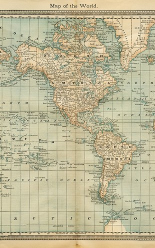 PHOTOWALL / Pale Vintage World Map (e30314)