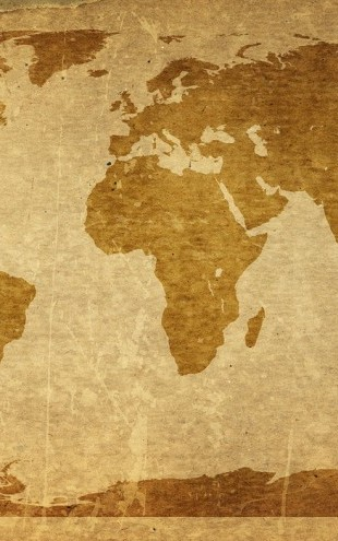 PHOTOWALL / Sepia World Map (e30316)
