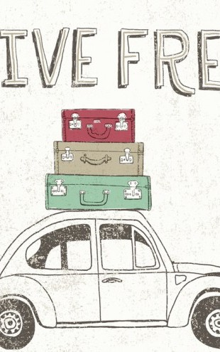 PHOTOWALL / Road Trip - Beetle Luggage (e30343)