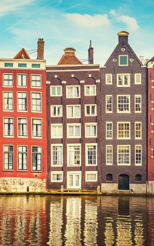 PHOTOWALL / Amsterdam Houses with Water - shutterstock (e40654)