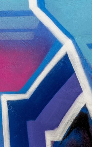 PHOTOWALL / Bright Cerise Graffiti (e40662)