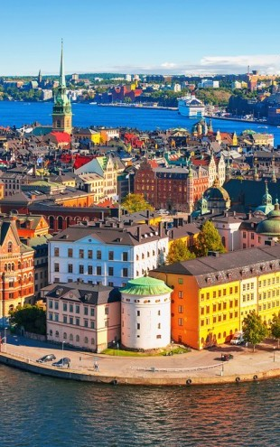 PHOTOWALL / Panorama of the Old Town in Stockholm (e40673)