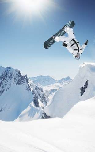 PHOTOWALL / Snowboarder Backflip (e40630)