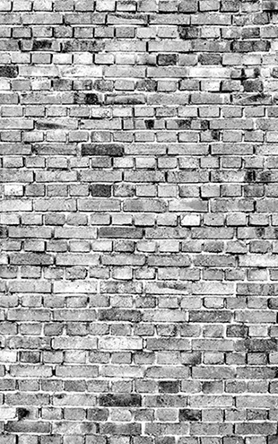 PHOTOWALL / Stockholm Brick Wall - Black and White (e30451)