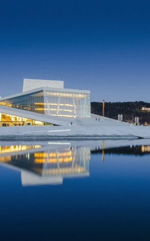 PHOTOWALL / Oslo Opera House by Night (e30701)